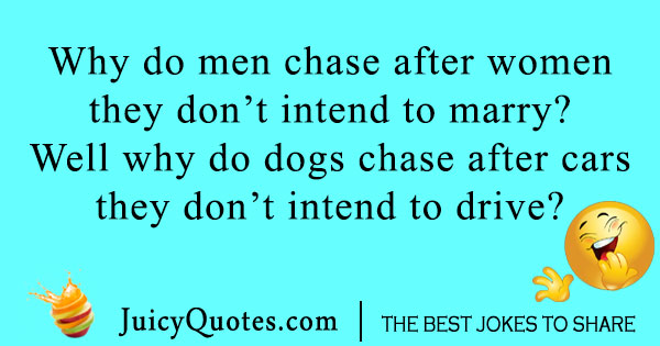 Dog and marriage joke