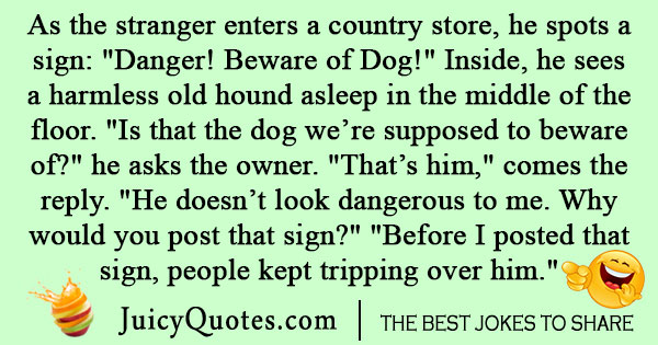 Beware of dog joke