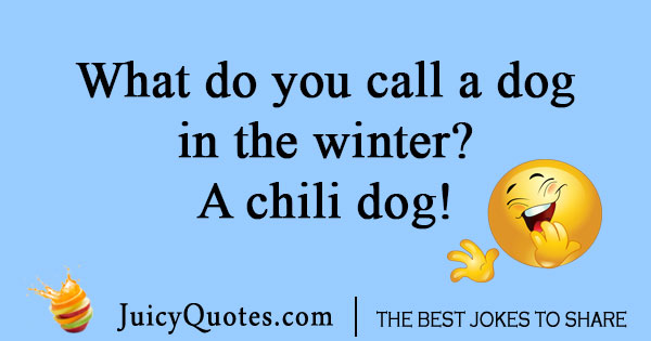 Dog in winter joke