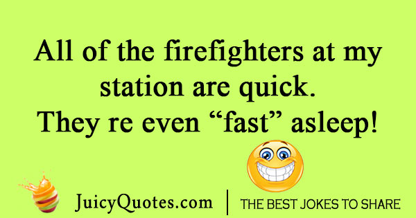 Funny firefighters joke