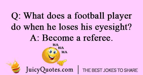 Football referee joke