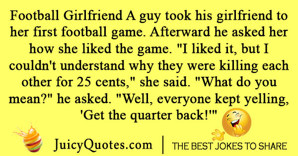 Football girlfriend joke