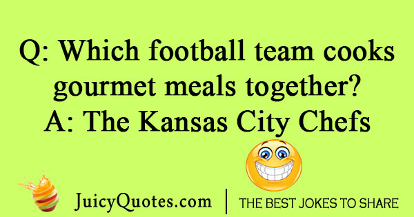 Football cook joke