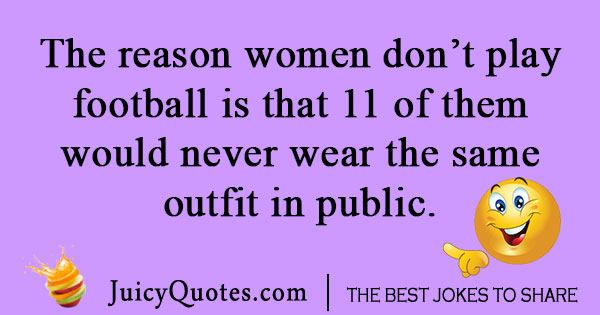 Women football joke