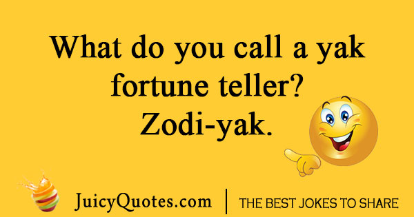 Silly fortune teller joke