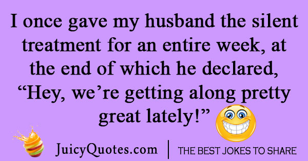 Funny life joke about husband and wife