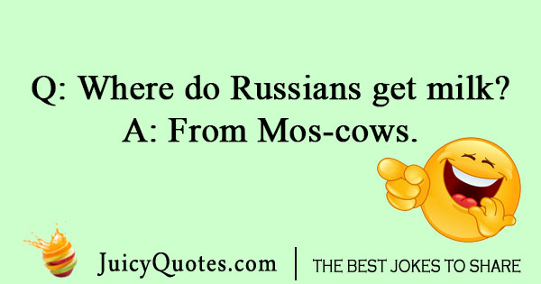 Russian milk joke