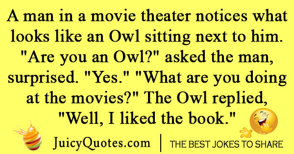 Owl movie watching joke