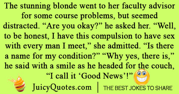 Adult blonde joke pun words... fantasy