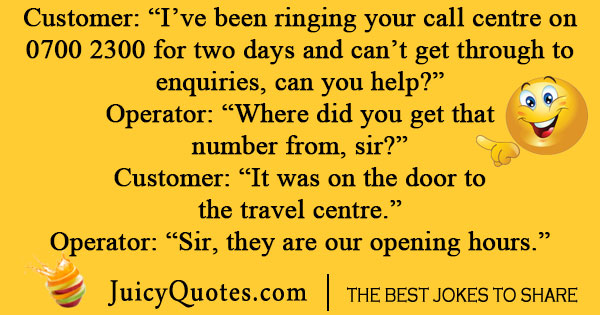 Flight Call Center Joke