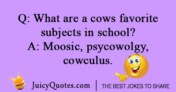School cow joke