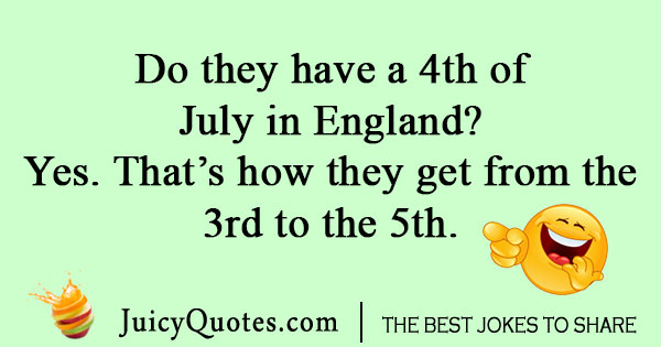 british fourth of july joke with picture