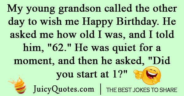 Grandpa birthday joke