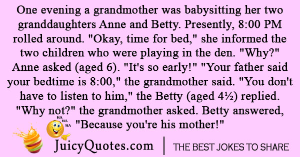 Grandparents Babysitting Joke