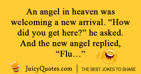Angel in heaven joke