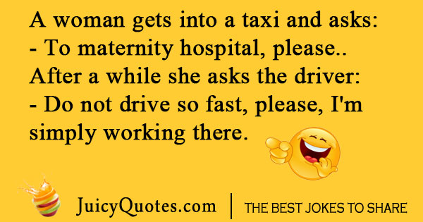 Driving to hospital joke