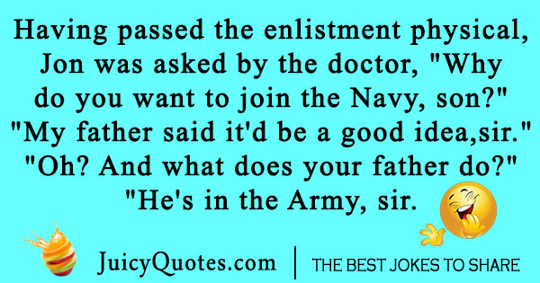 Army Navy Joke
