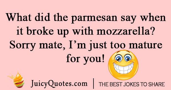 Silly pizza cheese joke