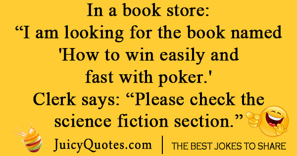 Poker Book Joke