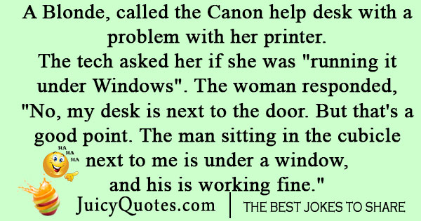 Canon Printer Joke