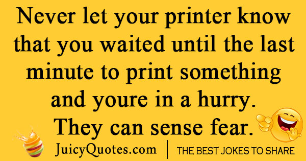 Silly Printer Joke