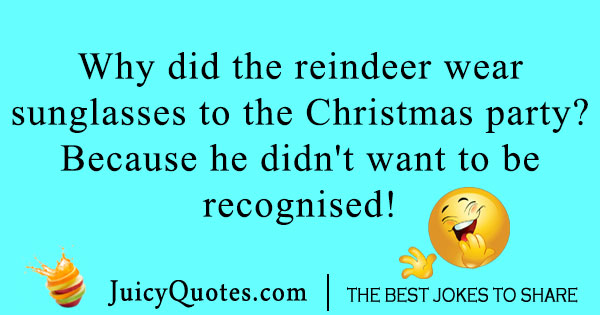 Reindeer sunglasses joke