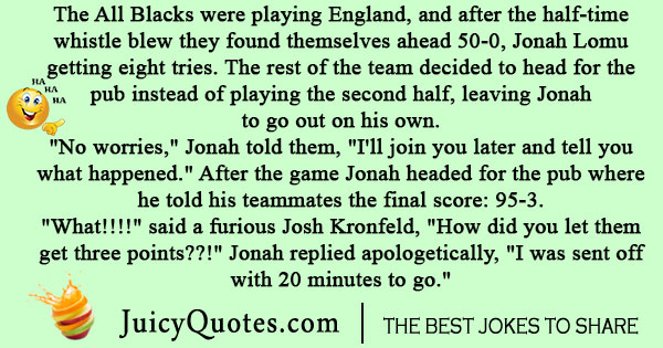 All Blacks Rugby Joke