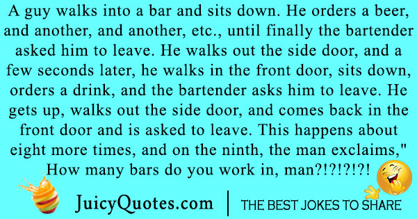 Silly Walks Into a Bar Joke