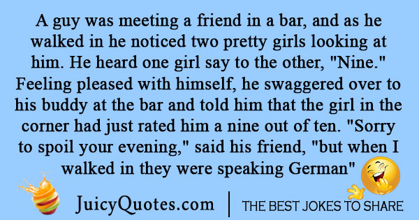 German Walks Into a Bar Joke