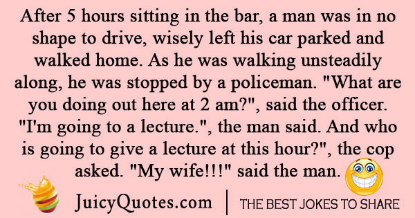 Police Walks Into a Bar Joke