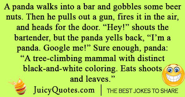Panda Walks Into a Bar Joke