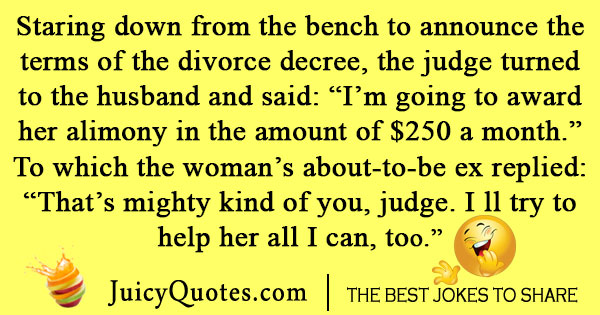 Divorce Decree Joke