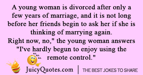 Woman Divorce Joke