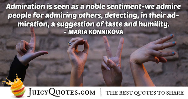 Quote About Admiration