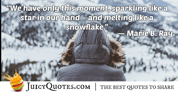 Only This Moment Quote