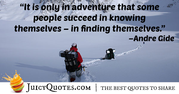 Finding Yourself Adventure Quote