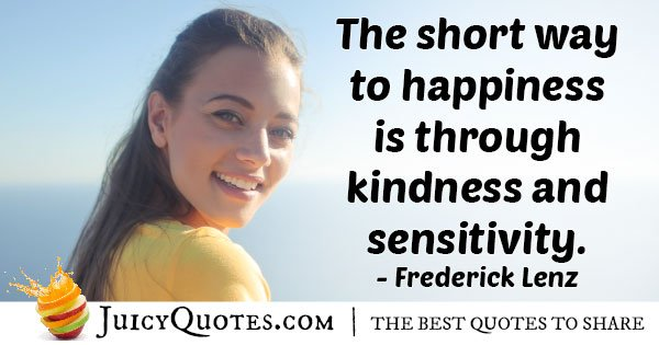 Kindness and Sensitivity Quote