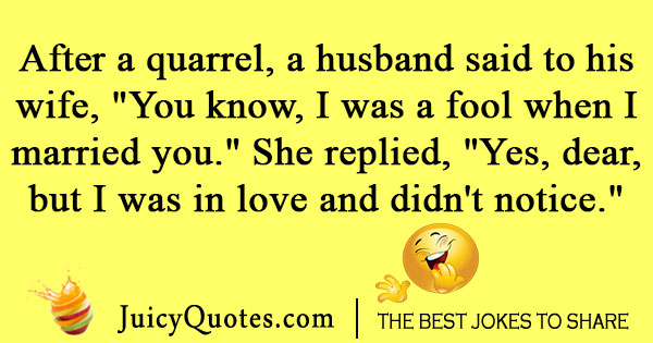 Quotes For Husband And Wife Quarrels: Marriage Love Joke