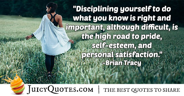 Keep Your Discipline In Quote