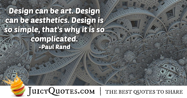 Design and Aesthetics Quote