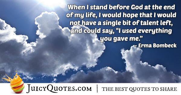 Standing Before God Quote