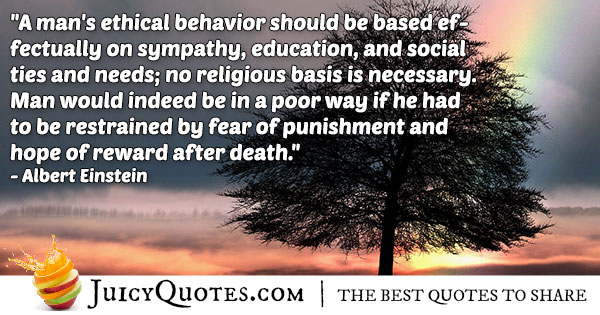 Ethics and Afterlife Quote