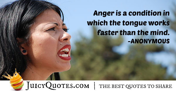 Condition of Anger Quote