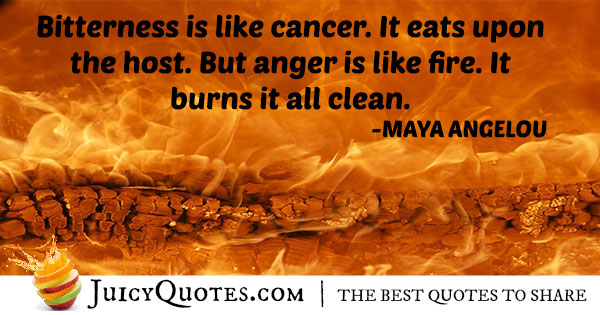 Anger Is Fire Quote