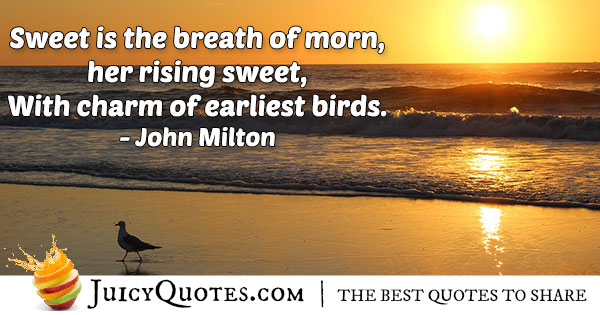 Morning Quote John Milton With Picture