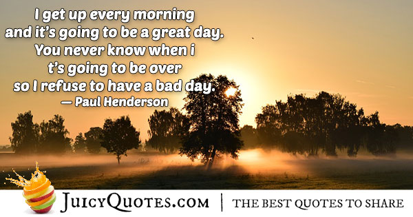 Great Morning Quote