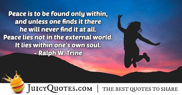 Find Peace Within Quote