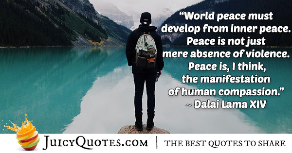 Inner and World Peace Quote