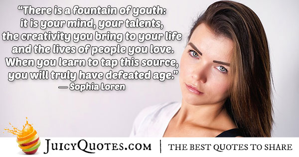 Fountain of Youth Quote
