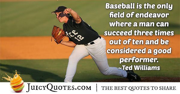 Funny Baseball Quote - (With Picture)